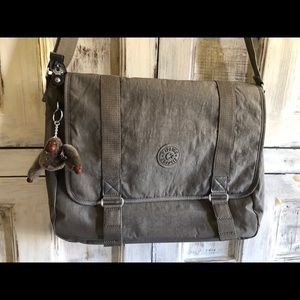 Kipling medium grey computer bag.